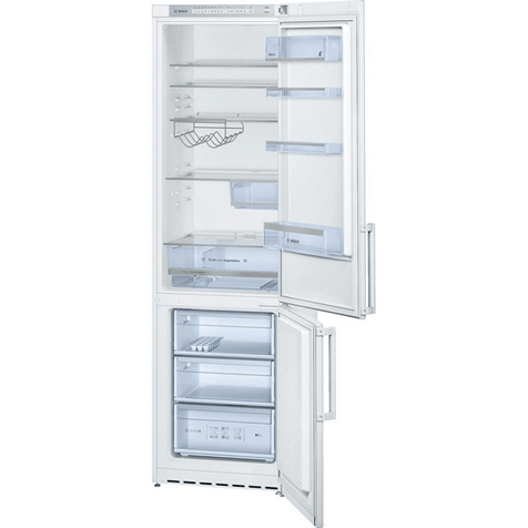 Холодильник Bosch KGE39XW20R - полки и ящики