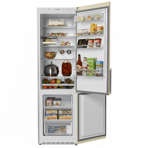 Холодильник Bosch KGE39AK21R - полки и ящики