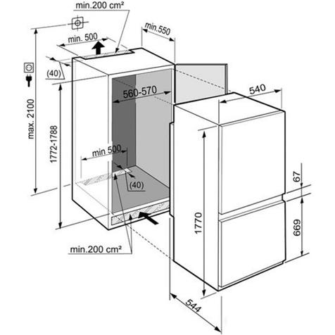 Холодильник Liebherr ICUN 3314 Comfort - схема монтажа